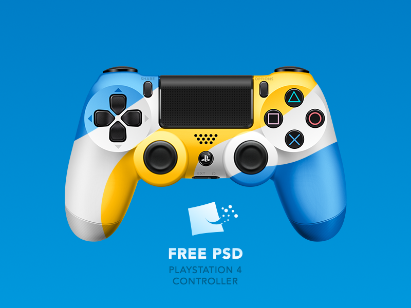 Dualshock 4  [ FREE PSD] pixel tipsy buttons vagina custom download psd free joystick playstation ps4 dualshock
