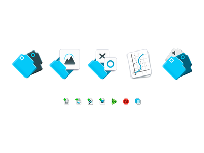 Just some icons dostoyevsky shapes lines dots vagina small files folders blue icon