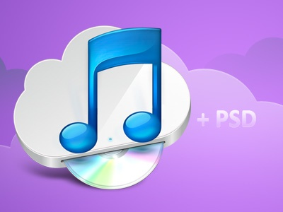 iTunes icon - Download itunes download psd apple