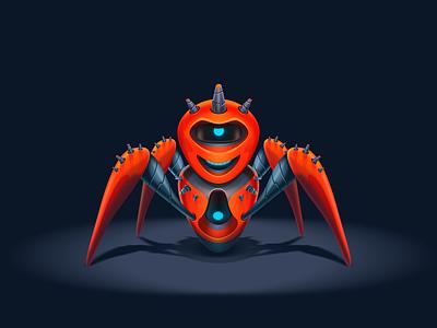 Spider Bot practice spiderbot spider man robot red vector design icon illustration vagina