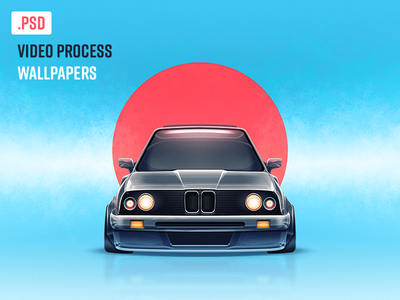 E30 Wallpaper video psd lowrider stance neon lights cool japan blue and red blue wallpaper car e30 bmw