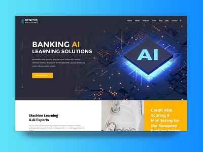 Artificial Intelligence Website homepage ui design uidesign website design web web design webdesign future technology ux  ui uxui ui design website artificial intelligence ai