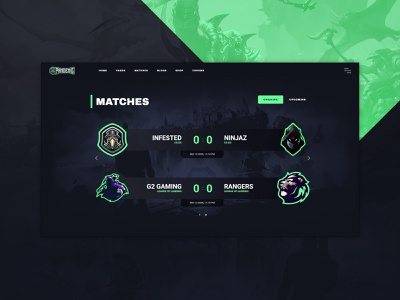 Esports Matches Block match matches tournaments tournament web design game website games esport gaming website wordpress theme gaming wordpress game website