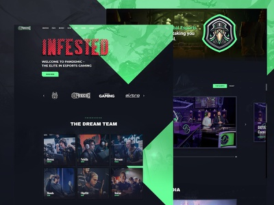 Esport Landing Page ui dark esport website game website gaming website wordpress wordpress themes green theme wordpress theme gaming games game esports esport twitch tournament tournaments matches match