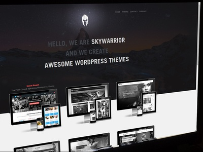 Homepage Skywarrior Themes animated photoshop gaming website homepage