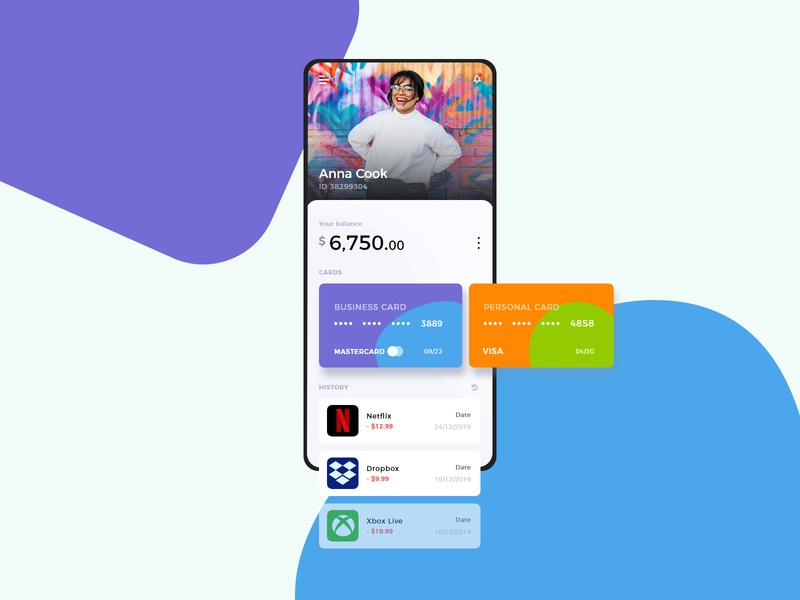 Banking App - Concept wallet payment mobile ui ui  ux uiux ui money mobile banking bank app bank adobe xd