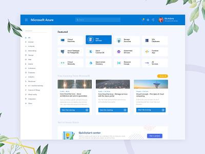 Microsoft Azure Redesign admin template admin dashboard admin design admin panel admin microsoft azure microsoft azure dashboard design dashboard ui dashboard redesign