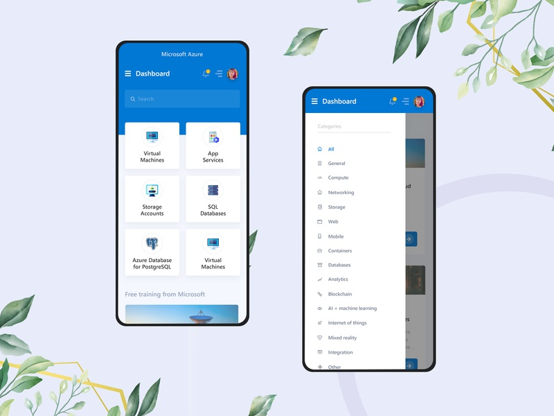 Microsoft Azure Redesign Mobile redesign microsoft azure microsoft dashboard ui dashboard design dashboard azure admin template admin panel admin design admin dashboard admin