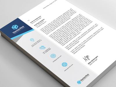 Blue Corporate Letterhead