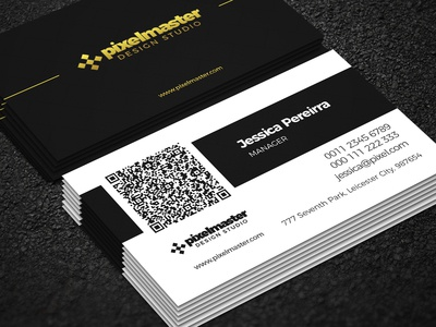 Simple business card with QR code