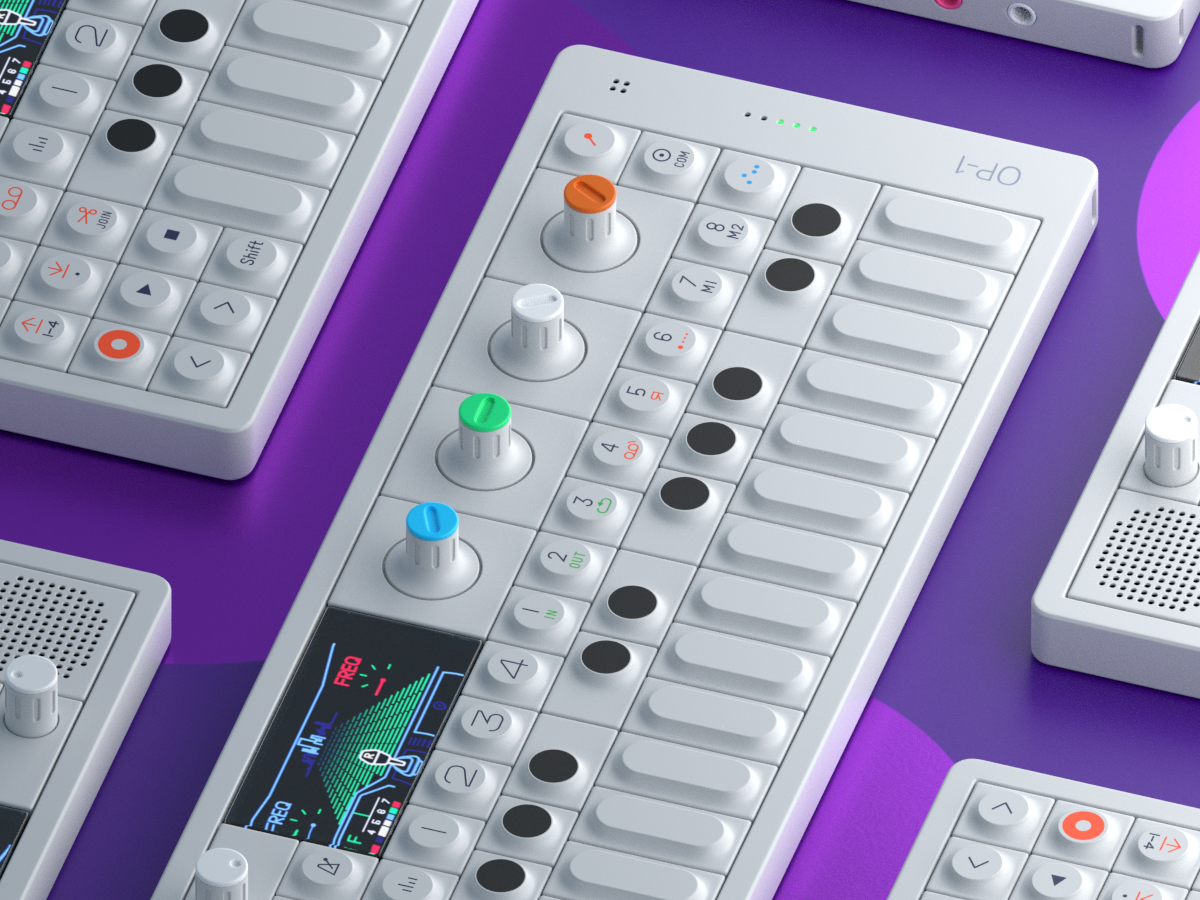 OP-1 Synthesizer Fanart industrialdesign id modeling fanart blender 3d synthesizer op-1