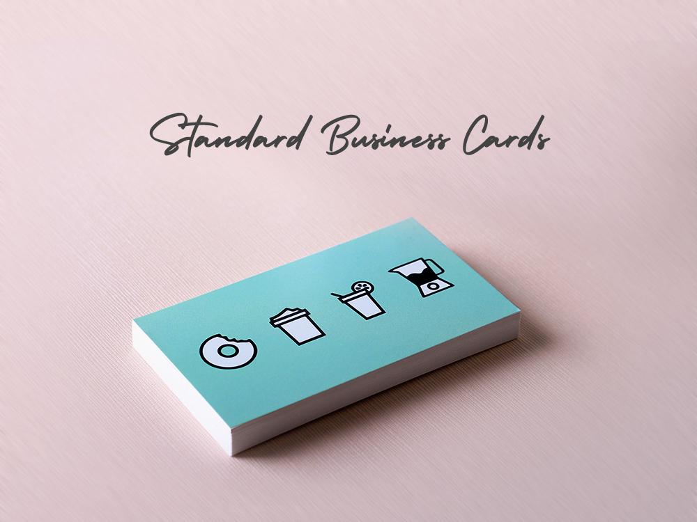Standard Business Card design sticker branding
