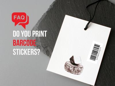 Barcode Stickers design sticker branding
