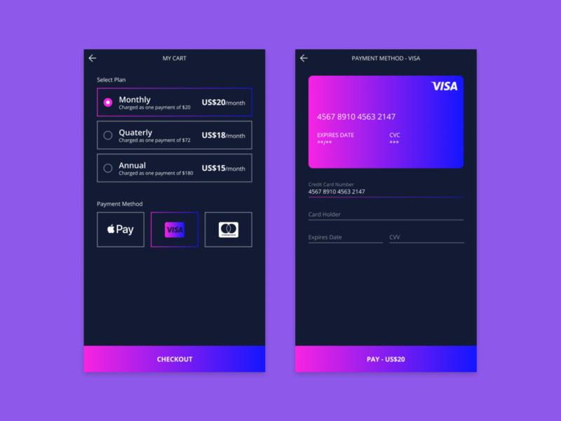 Daily UI :: 002 - Credit Card Checkout credit card checkout credit card checkout page checkout mobile design mobile ui design dailyui