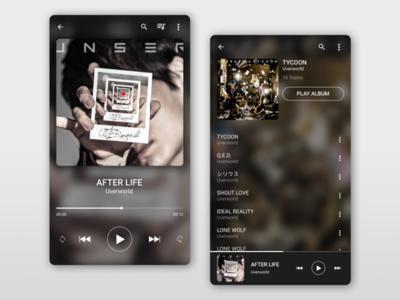 Daily UI :: 009 - Music Player music player music app music mobile ui design dailyui