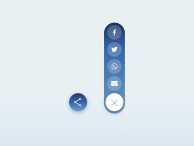 Daily UI :: 010 - Social Share social share share social media button ui design dailyui