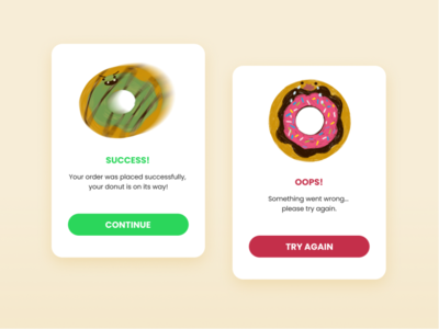 Daily UI :: 011 - FlashMessage donut graphic flash message ui design dailyui