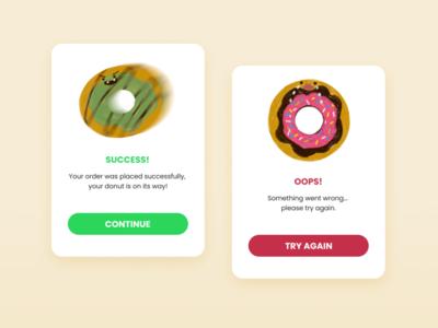 Daily UI :: 011 - FlashMessage donut graphic flash message ui design dailyui