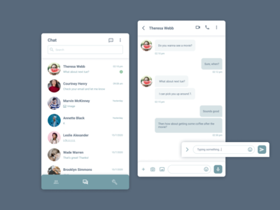 Daily UI :: 013 - Direct Messaging message inbox message app direct messaging app mobile ui design dailyui