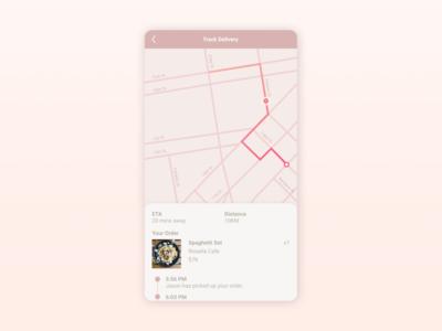 Daily UI :: 020 - LocationTracker location tracker app mobile ui design dailyui