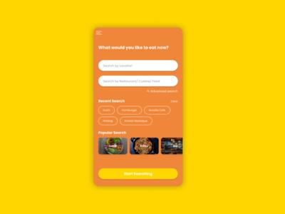 Daily UI :: 022 - Search restaurant app seach app mobile ui design dailyui