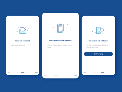 Daily UI :: 023 - Onboarding task manager onboarding app mobile ui design dailyui