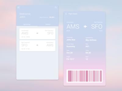 Daily UI :: 024 - Boarding Pass boarding pass boardingpass airline app app mobile ui design dailyui