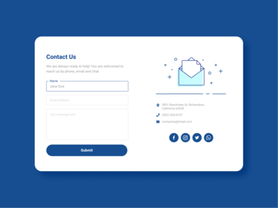 028 ContactUs contact form contact us ui design dailyui