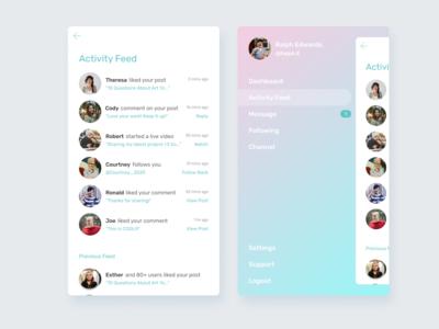 Daily UI:: 47 - Activity Feed activity feed app mobile ui design dailyui