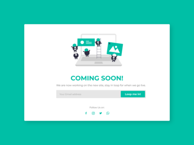 Daily UI:: 48 - Coming Soon coming soon comingsoon web ui design dailyui