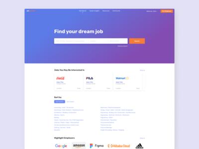 Daily UI:: 050 - Job Listing job listing web ui design dailyui