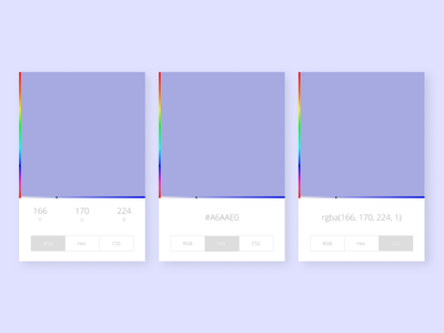 Daily UI:: 060 - Color Picker color picker ui design dailyui
