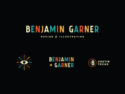 Benjamin Garner illustration design color eye century mid retro simple logo identity personal