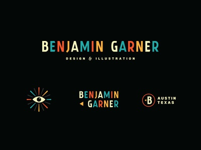 Benjamin Garner illustration design color eye century mid retro simple logo identity personal