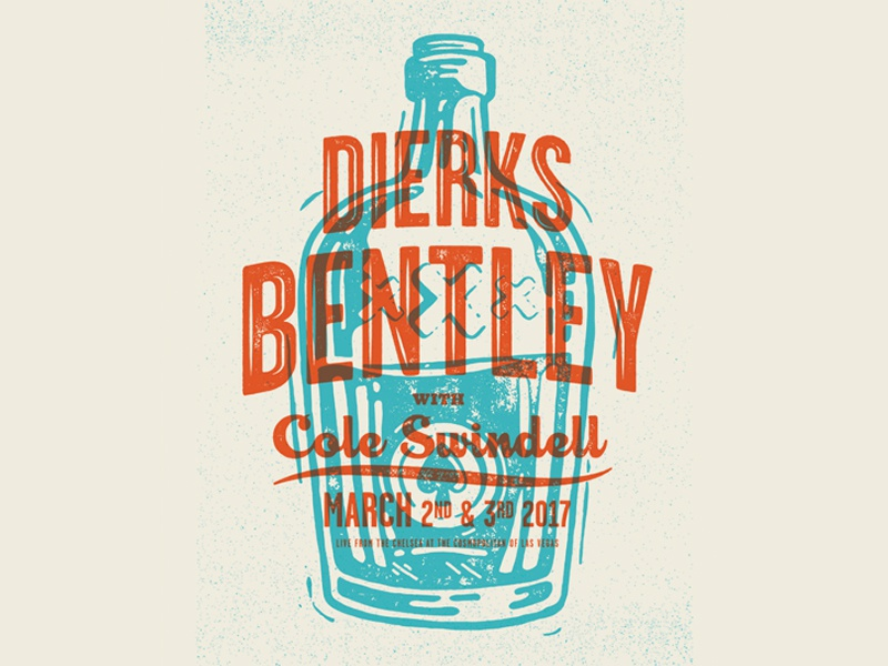 DB bottle whiskey illustration typography overprint print block poster
