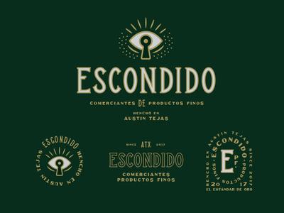 Escondido austin typography custom simple keyhole eye logo secret escondido