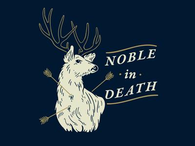 Noble in Death typography death noble antlers drawing arrows deer