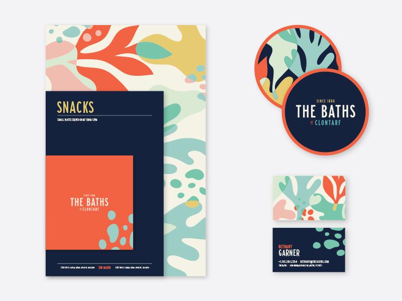 Business card design incorporating a color pallet by Benjamin Garner.