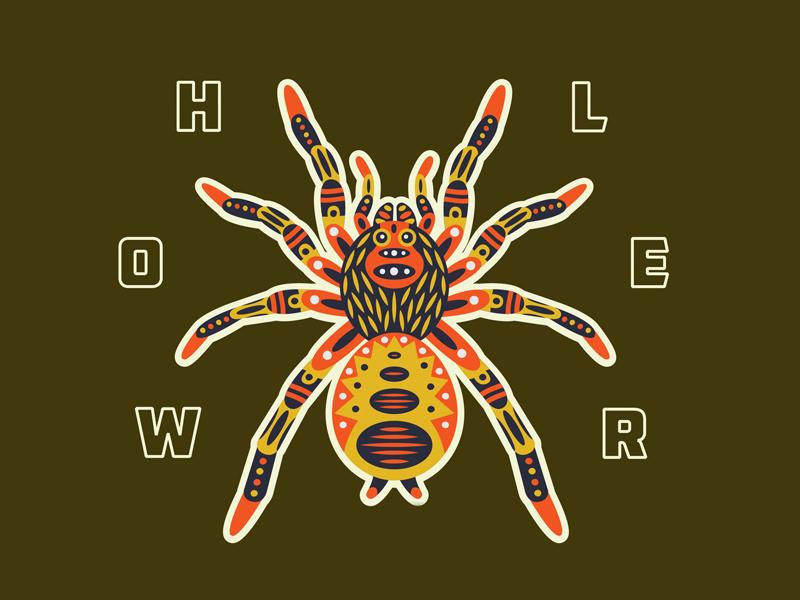 HWLR Tarantula emblem patch sticker pattern type graphic illustration spider tarantula
