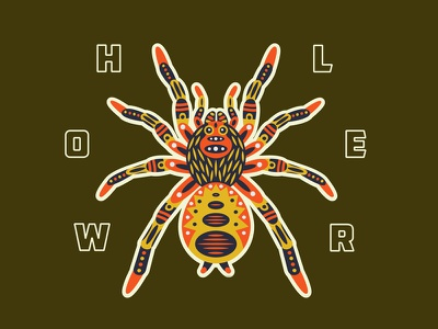 HWLR Tarantula emblem patch sticker pattern type graphic illustration spider tarantula