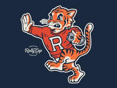 RCB Co. Mascot brand identity sweater tiger brewery beer sports football baseball mascot