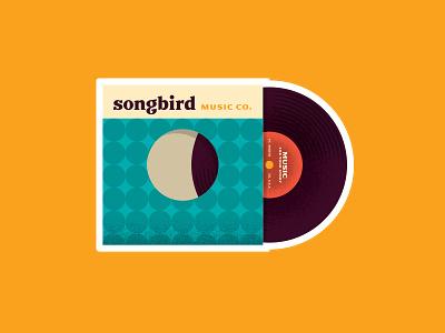 Record Sticker design music illustration sleeve sticker record