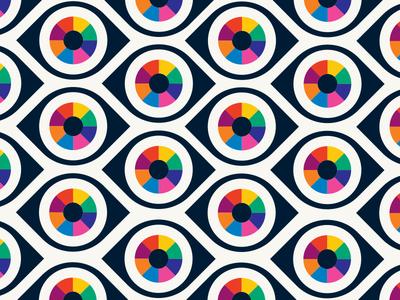 Eye Pattern illustration wheel color rainbow eye