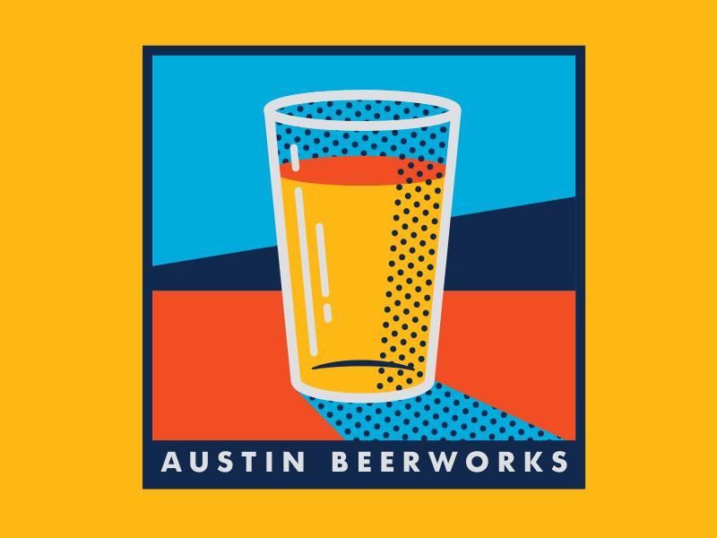 Pop Art Beer modern colors bar brewery illustration beer halftone art pop