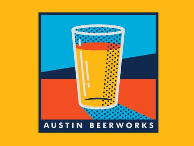 Pop Art Beer modern colors bar brewery illustration beer halftone art pop