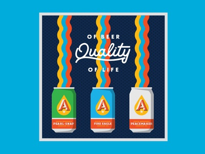 Rainbow Beers typography can illustration bar mat rainbow beer