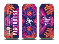 Electric Jellyfish packaging jellyfish electric kaleidoscope illustration design can beer