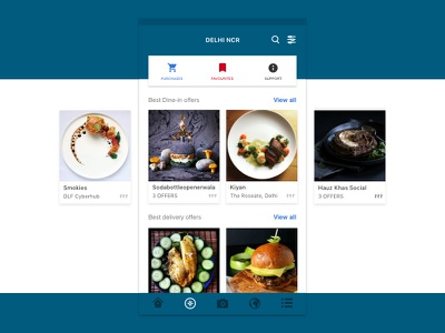 Food Talk Store dish content design store offers explore minimal ux ui food