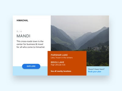 Cities concept whitespace minimal material card layout adventure design ux ui web