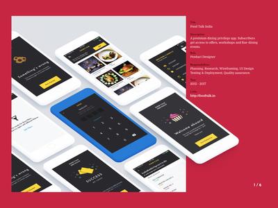 Portfolio page whitespace minimal material card layout adventure design ux ui web